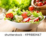 Bowl Of Salad With Vegetables...