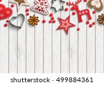 christmas background  small... | Shutterstock .eps vector #499884361