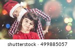 brother and sister full of... | Shutterstock . vector #499885057