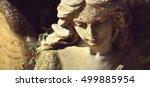 sad angel as a symbol of... | Shutterstock . vector #499885954