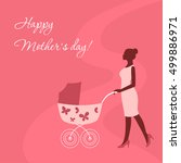 mothers day card with mother... | Shutterstock .eps vector #499886971