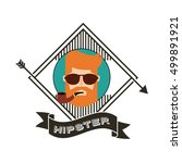 male avatar with hipster style... | Shutterstock .eps vector #499891921