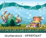 cartoon vector underwater... | Shutterstock .eps vector #499895647