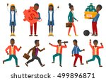 set of successful business... | Shutterstock .eps vector #499896871