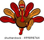 thanksgiving turkey with soles... | Shutterstock .eps vector #499898764