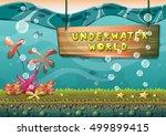 cartoon vector underwater... | Shutterstock .eps vector #499899415