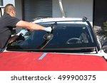 mecanic man is changing... | Shutterstock . vector #499900375