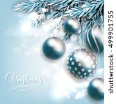 merry christmas greeting card... | Shutterstock .eps vector #499901755