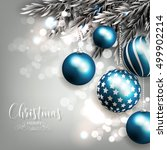 christmas invitation with... | Shutterstock .eps vector #499902214