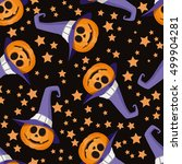 seamless pattern with funny... | Shutterstock .eps vector #499904281