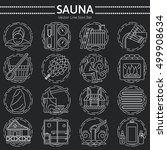 modern vector line icons with... | Shutterstock .eps vector #499908634