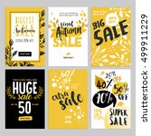set of social media sale... | Shutterstock .eps vector #499911229