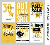 set of social media sale... | Shutterstock .eps vector #499911241