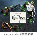 merry christmas background.... | Shutterstock . vector #499915531