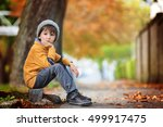Autumn Portrait Of Beautiful...