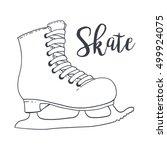ice skate. ice skating boot.... | Shutterstock .eps vector #499924075