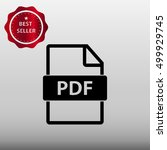 pdf file type vector icon...