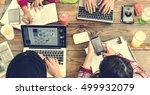 cooperation brainstorming...   Shutterstock . vector #499932079