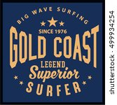 vintage surfing graphics and... | Shutterstock .eps vector #499934254