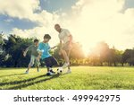 soccer football field father... | Shutterstock . vector #499942975