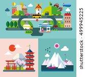 modern flat design conceptual... | Shutterstock .eps vector #499945225