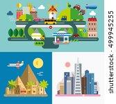 modern flat design conceptual... | Shutterstock .eps vector #499945255