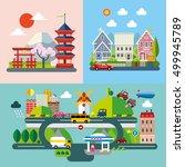 modern flat design conceptual... | Shutterstock .eps vector #499945789