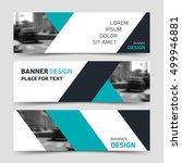set of blue horizontal business ...   Shutterstock .eps vector #499946881