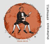 freak circus musician  perfect...   Shutterstock .eps vector #499946911