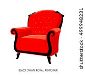 black swan royal armchair.... | Shutterstock . vector #499948231