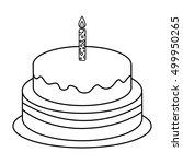 delicious sweet cake birthday... | Shutterstock .eps vector #499950265