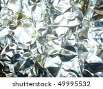 Shiny aluminum foil texture background - stock photo