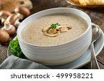 a bowl of delicious homemade... | Shutterstock . vector #499958221