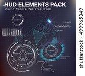 abstreact hud background. set... | Shutterstock .eps vector #499965349