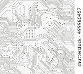 circuit board background.... | Shutterstock .eps vector #499980457