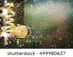 bottle of champagne.celebration ... | Shutterstock . vector #499980637