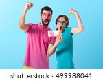 couple in colorful clothes... | Shutterstock . vector #499988041
