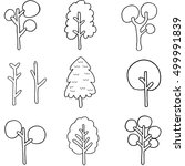 doodle of simple tree set... | Shutterstock .eps vector #499991839
