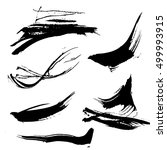 set of hand drawn brushes and... | Shutterstock .eps vector #499993915