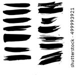 set of hand drawn brushes and... | Shutterstock .eps vector #499993921