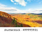 blue ridge mountains in autumn... | Shutterstock . vector #499995931