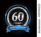 60 years anniversary logo with... | Shutterstock .eps vector #499996315