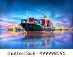 logistics and transportation of ... | Shutterstock . vector #499998595