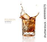 bourbon whiskey splash in an...   Shutterstock . vector #499999375