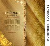 golden background  antique...   Shutterstock .eps vector #500006761