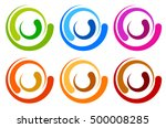 Colorful Circle Logo  Icon...