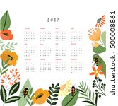calendar templates with cutout... | Shutterstock .eps vector #500008861