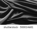 luxurious black satin... | Shutterstock . vector #500014681