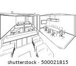 interior outline sketch drawing ... | Shutterstock .eps vector #500021815