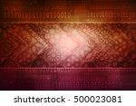 digital abstract business... | Shutterstock . vector #500023081